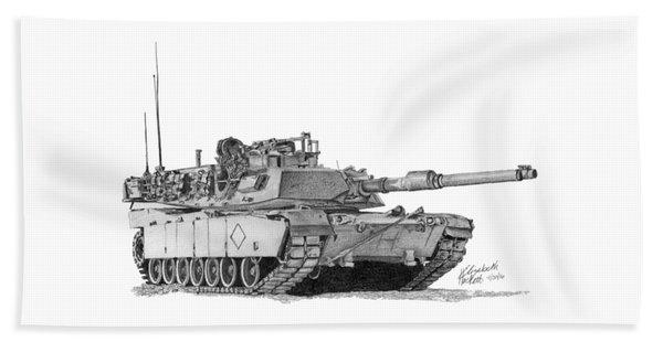M1a1 Battalion Commander Tank Beach Towel
