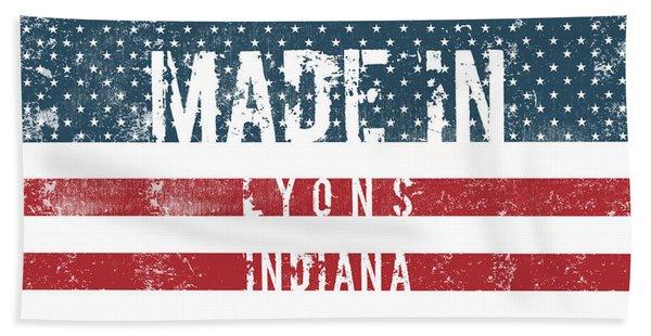 Made In Lyons, Indiana #lyons #indiana Beach Towel