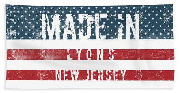 Made In Lyons, New Jersey #lyons #new Jersey Beach Towel