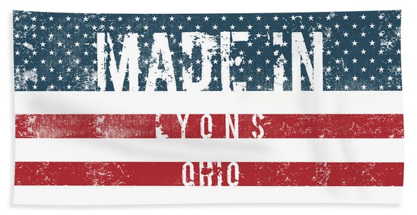 Made In Lyons, Ohio #lyons #ohio Beach Towel