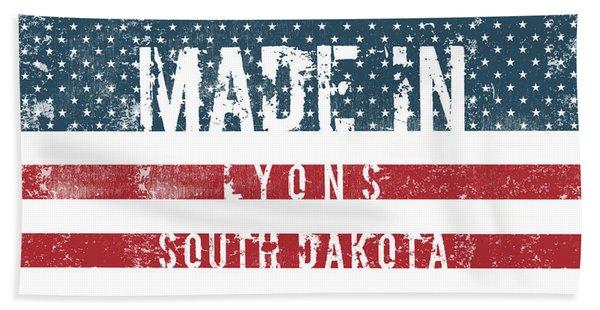 Made In Lyons, South Dakota #lyons #south Dakota Beach Towel