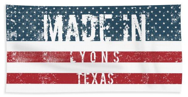 Made In Lyons, Texas #lyons #texas Beach Towel