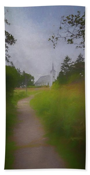 Beach Towel featuring the photograph Maine Island Chapel by Tom Singleton
