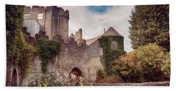 Malahide Castle By Autumn  Beach Towel