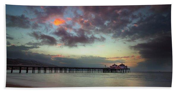 Malibu Pier IIi Beach Towel