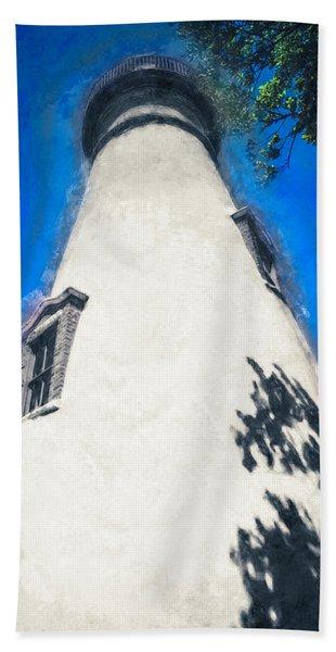 Marblehead Ohio Light Beach Towel