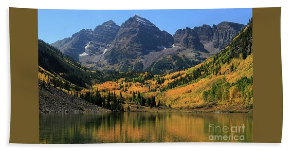Maroon Bells In Fall Beach Towel