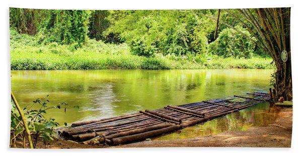 Martha Brae River Bamboo Rafting Beach Towel