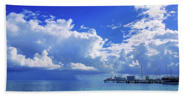 Massive Caribbean Clouds Beach Towel