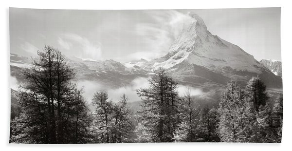 Matterhorn Study 3, Switzerland, 2014 Beach Towel