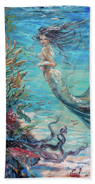 Mermaid Neighbors Beach Towel