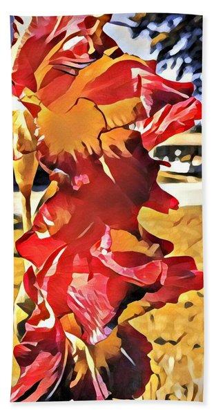 Midcentury Floral Print 001 Beach Sheet