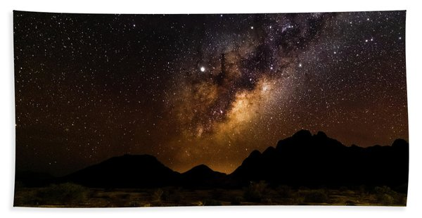 Milkyway Over Spitzkoppe 2, Namibia Beach Towel
