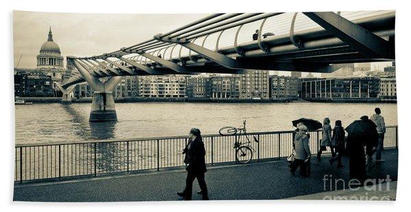 Millennium Bridge 03 Beach Towel