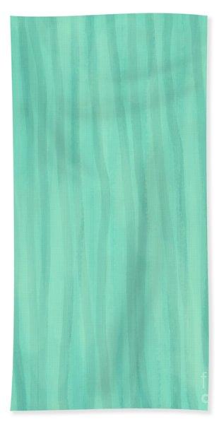 Mint Green Lines Beach Towel