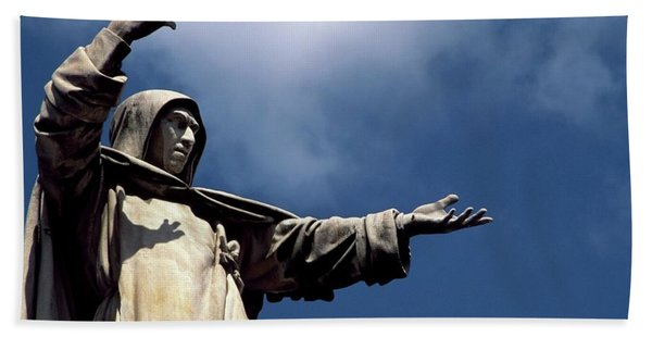 Monument To Girolamo Savonarola, Detail Beach Towel