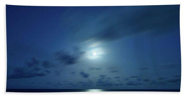 Moonrise Over The Sea Beach Towel