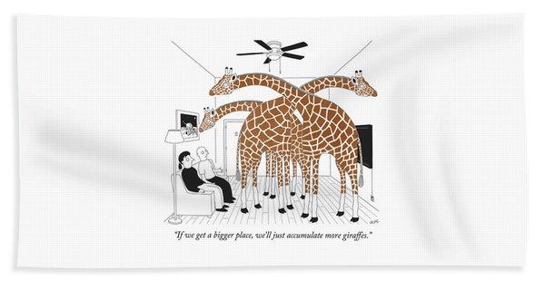 More Giraffes Beach Towel