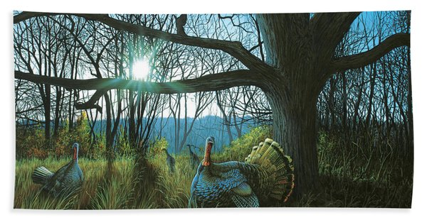 Morning Chat - Turkey Beach Towel