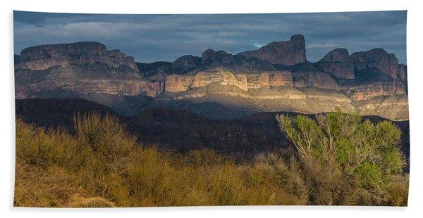 Mountain Illumination Beach Towel