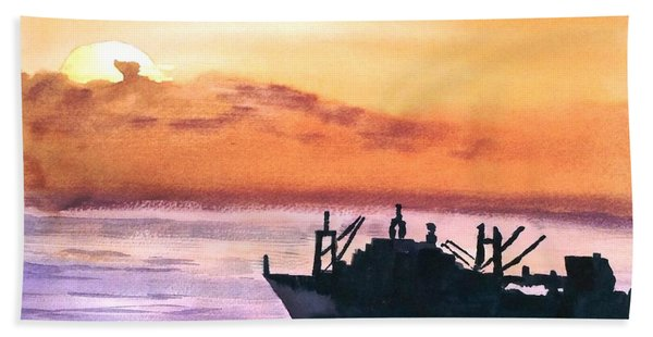 Near Panama Canal Beach Towel