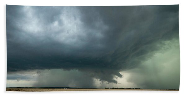 Nebraska Storm Beach Towel