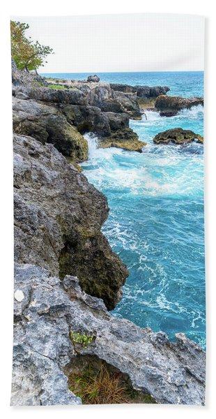 Negril Jamaica Cliffs Beach Towel