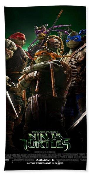 Ninja Turtles 2014 Poster Beach Towel