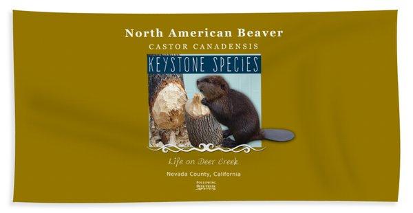 North American Beaver Beach Towel