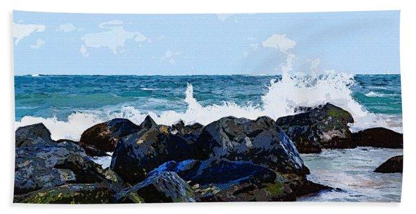 Ocean Meets The Coast Beach Towel
