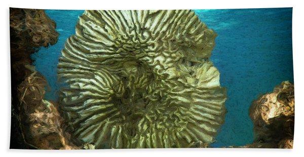 Ocean With Its Life Underground Beach Towel
