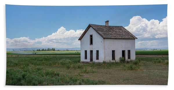 Old Abandoned House In Farming Area Beach Towel