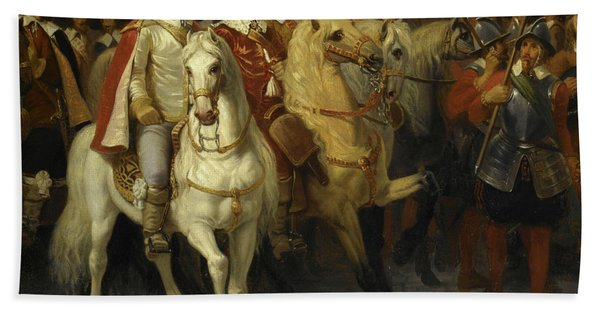 Oliver Cromwell Leaves London, 1649 Beach Towel