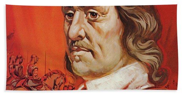 Oliver Cromwell Portrait Beach Towel