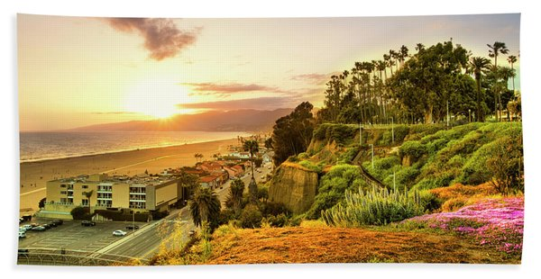 Orange Haze At Sunset Beach Sheet