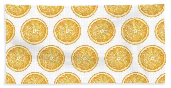Orange Slice Pattern 1 - Tropical Pattern - Tropical Print - Lemon - Orange - Fruit - Tangerine Beach Towel