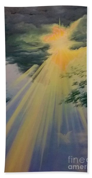 Out Of Darkness His Light Shall Shine Beach Towel