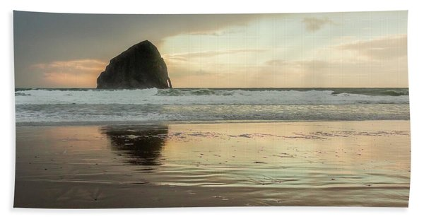 Pacific City Sea Stack Beach Towel
