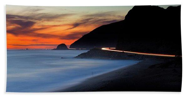 Pacific Coast Highway Beach Towel