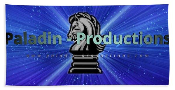 Paladin-productions.com Logo Beach Towel