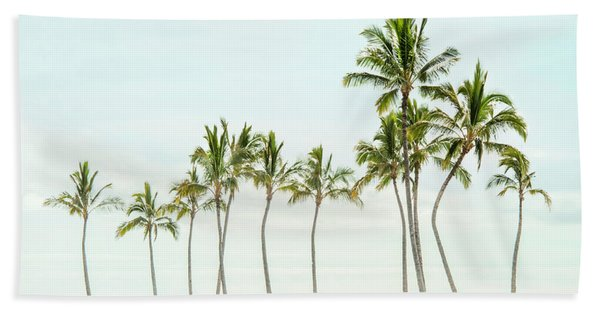 Palm Tree Horizon In Color Beach Sheet