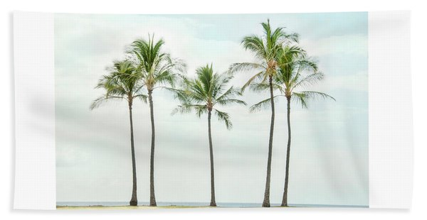 Palm Trees On The Beach Beach Sheet