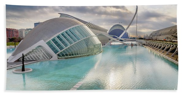 Panoramic Cinema In The City Of Sciences Of Valencia, Spain, Vis Beach Towel