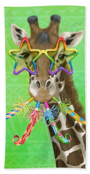 Party Safari Giraffe Beach Towel