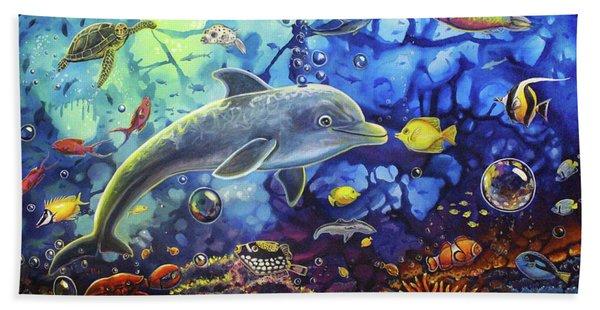 Past Memories New Beginnings Dolphin Reef Beach Sheet