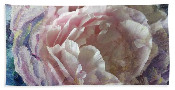 Peony -transparent Petals Beach Sheet