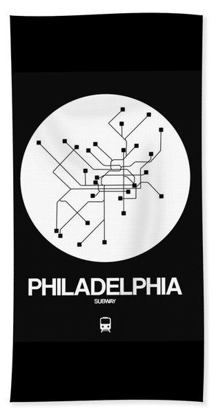 Philadelphia White Subway Map Beach Towel