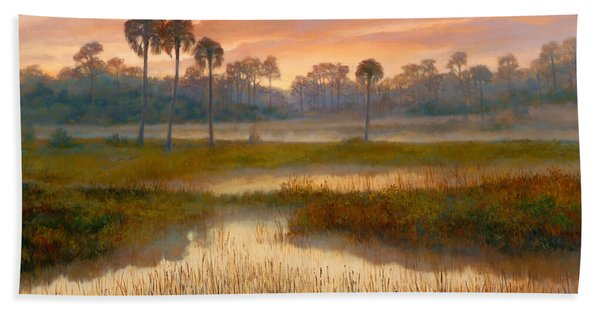 Pine Glades Sunrise Beach Towel