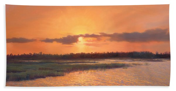 Pine Glades Sunset Beach Towel