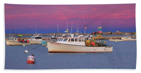 Pink In Plymouth Beach Towel